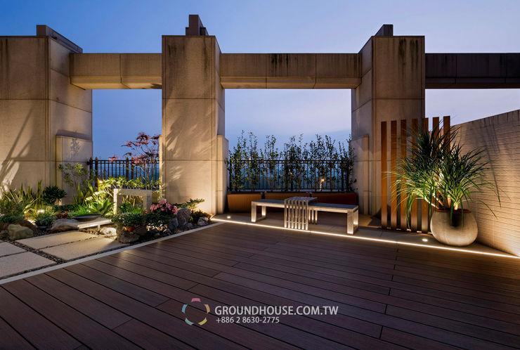 晚上可以在此與家人朋友談天說地 大地工房景觀公司 Garden Lighting
