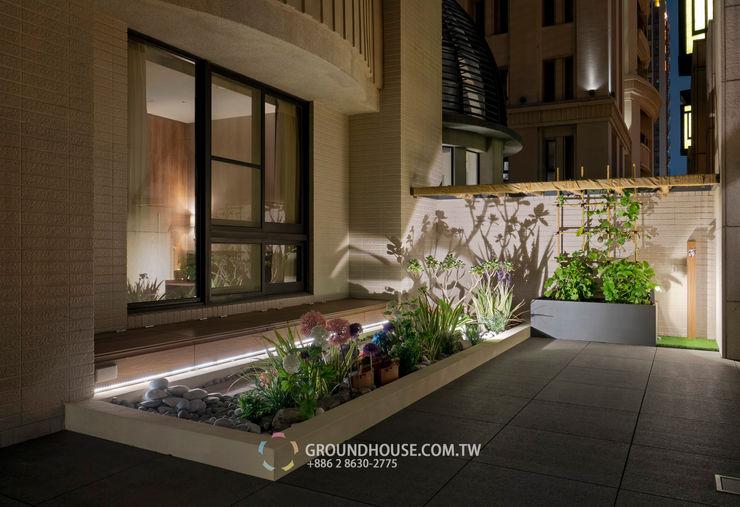 燈光與樹影交織出美麗的畫面 大地工房景觀公司 Garden Lighting