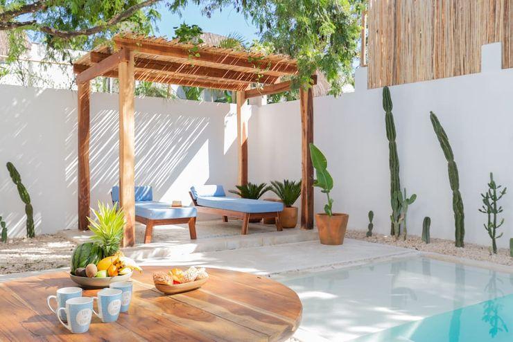 Casa Blanc Hipercubo Arquitectura Comedores mediterráneos Concreto Blanco