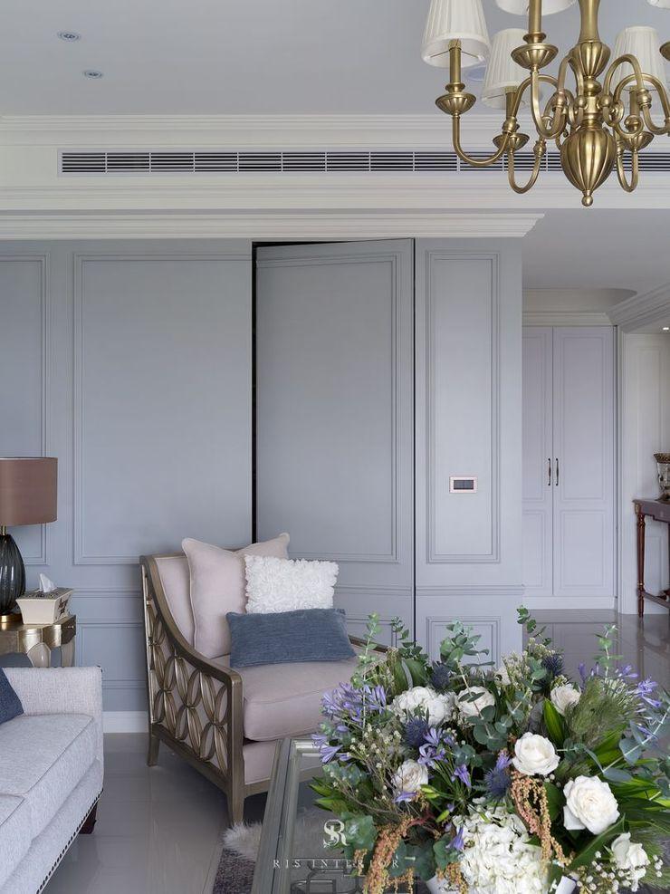 布吉瓦爾花園|The Garden at Bougival 理絲室內設計有限公司 Ris Interior Design Co., Ltd. 客廳儲藏櫃