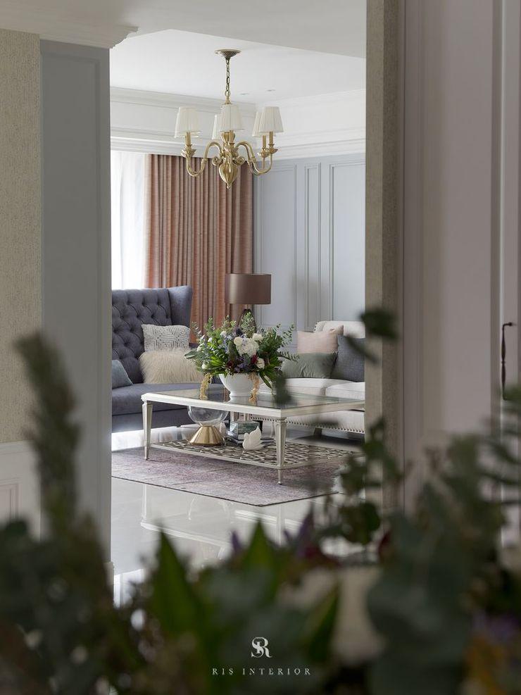 布吉瓦爾花園|The Garden at Bougival 理絲室內設計有限公司 Ris Interior Design Co., Ltd. 客廳
