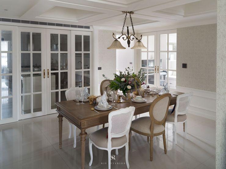 布吉瓦爾花園|The Garden at Bougival 理絲室內設計有限公司 Ris Interior Design Co., Ltd. 餐廳 White