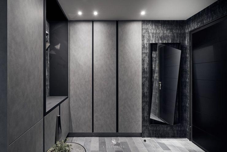 霏霧.烟波 Fog Floated 理絲室內設計有限公司 Ris Interior Design Co., Ltd. 現代風玄關、走廊與階梯