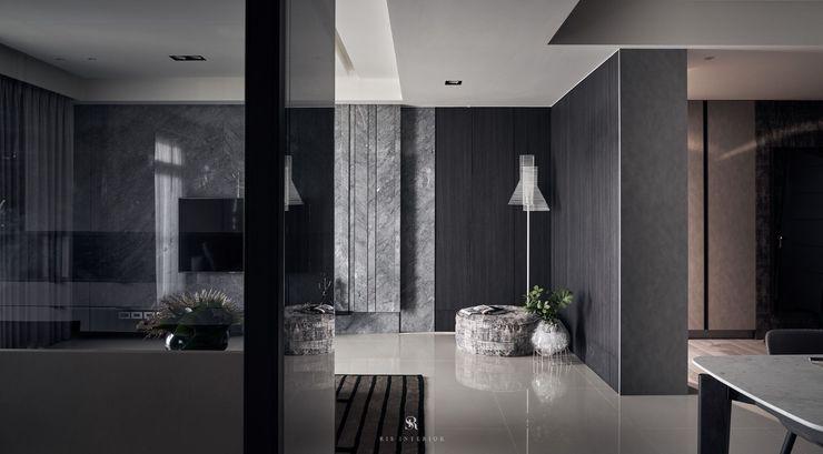 霏霧.烟波 Fog Floated 理絲室內設計有限公司 Ris Interior Design Co., Ltd. 现代客厅設計點子、靈感 & 圖片