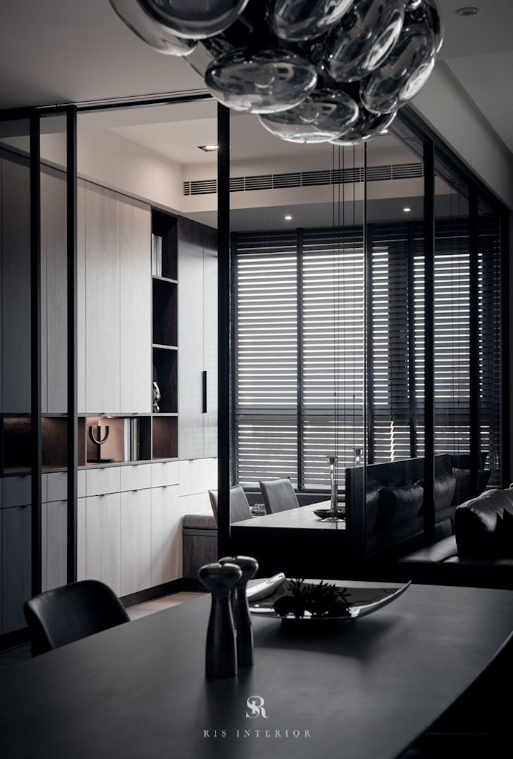 霏霧.烟波 Fog Floated 理絲室內設計有限公司 Ris Interior Design Co., Ltd. 書房/辦公室