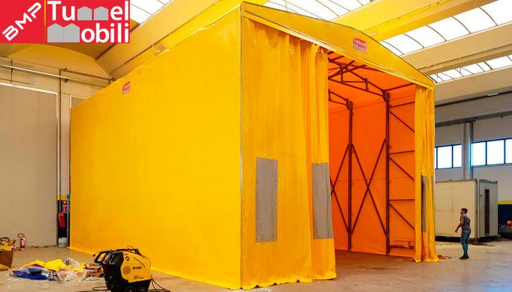 Tunnel retrattili industriali BMP Tunnel Mobili Spazi commerciali in stile industrial Ferro / Acciaio