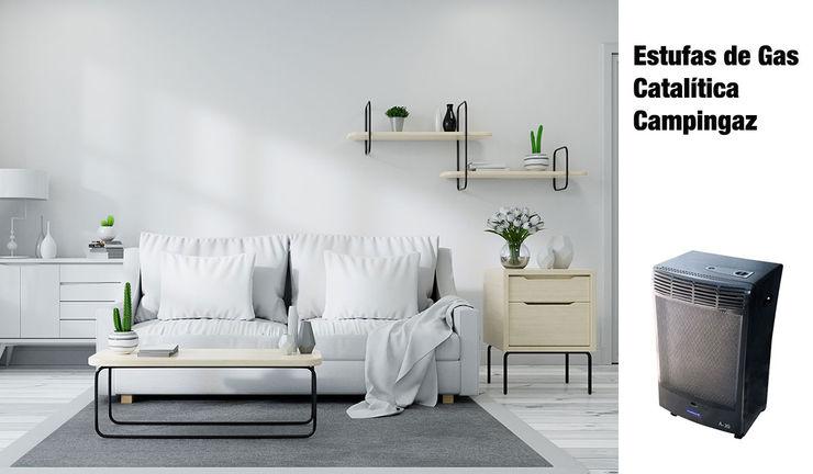 ¿Por qué elegir esta estufa de gas catalítica Campingaz? ferrOkey - Cadena online de Ferretería y Bricolaje Salones de estilo moderno Hierro/Acero Gris
