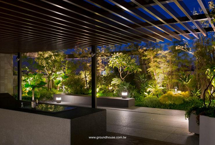 夜景05 大地工房景觀公司 Asian style office buildings