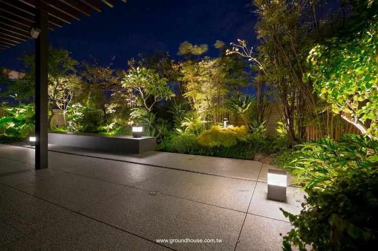 夜景06 大地工房景觀公司 Asian style office buildings