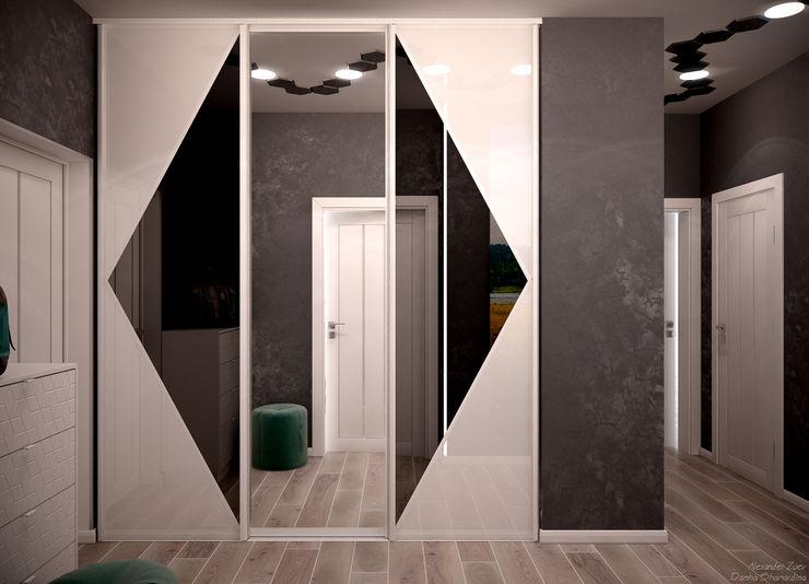 Студия интерьерного дизайна happy.design Modern corridor, hallway & stairs