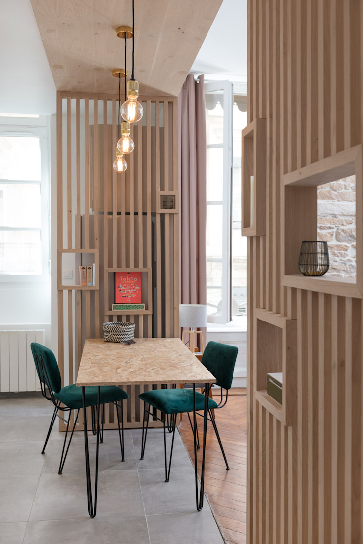 Chez Sophie et Morgan Camille BASSE, Architecte d'intérieur Salle à manger moderne