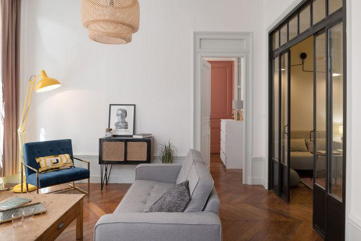 Chez Sophie et Morgan Camille BASSE, Architecte d'intérieur Salon moderne