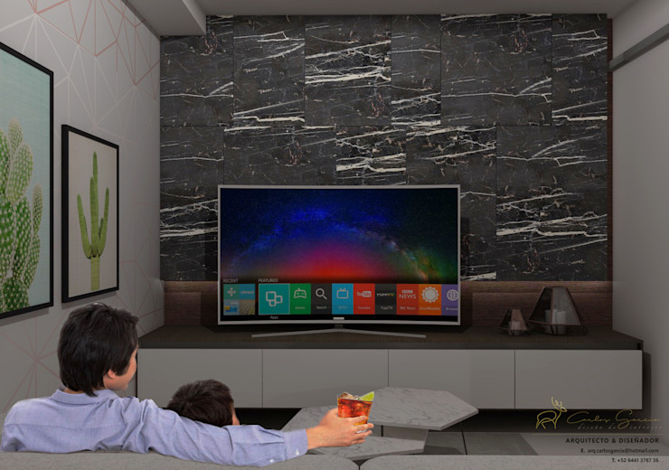 CG Diseño Modern media room