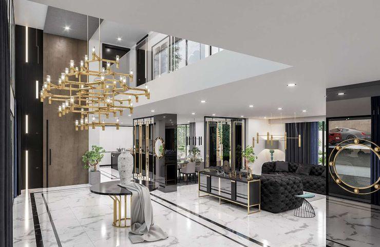 Sapanca Villa VERO CONCEPT MİMARLIK Modern Koridor, Hol & Merdivenler