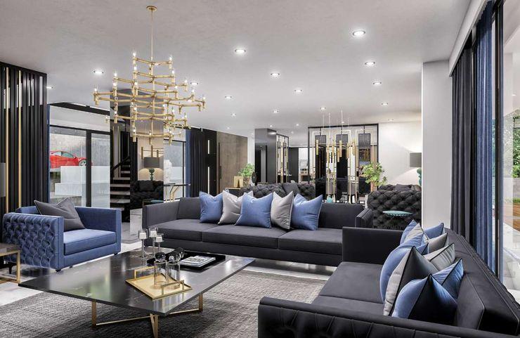 Sapanca Villa VERO CONCEPT MİMARLIK Modern Oturma Odası
