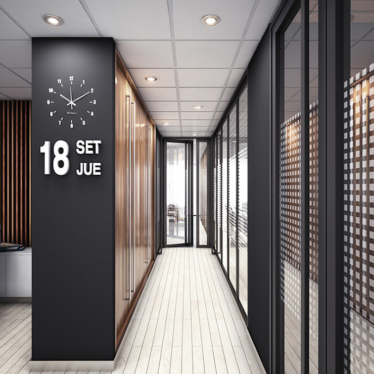 INSPIRA ARQUITECTOS Industrial style study/office