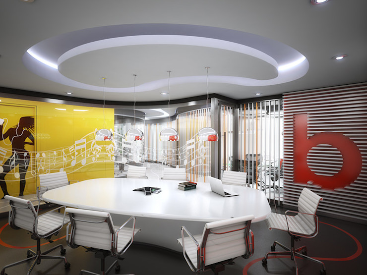 INSPIRA ARQUITECTOS Ruang Studi/Kantor Modern