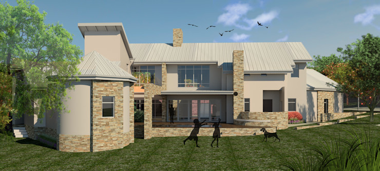 VIEW FROM THE SOUTH Nuclei Lifestyle Design Modern houses