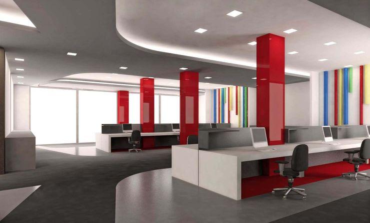 Kolonlar ANTE MİMARLIK Ofis Alanları Kırmızı