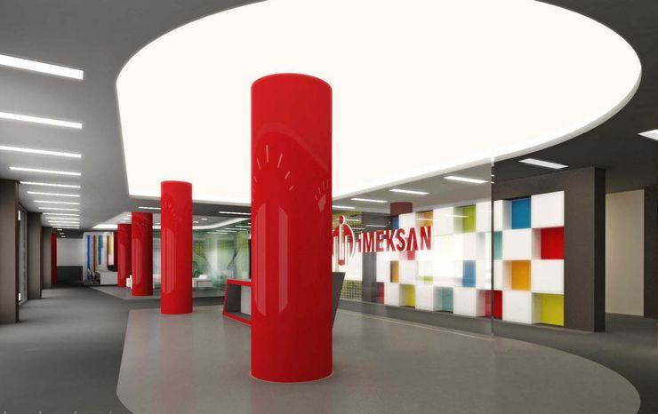 Aydınlatma ANTE MİMARLIK Ofis Alanları Kırmızı