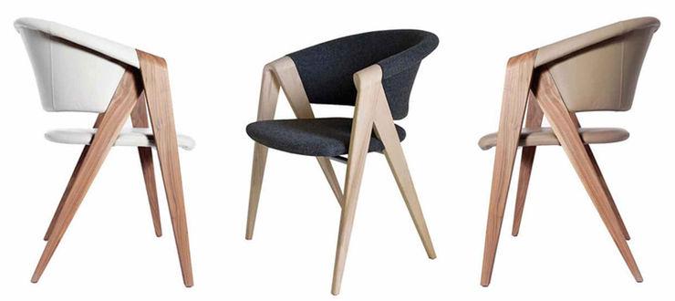 Fauteuil design de Martin Ballendat Imagine Outlet Salle à mangerTabourets & bancs Bois Marron