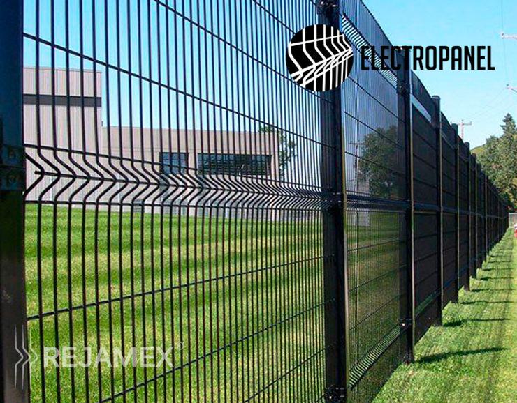 Reja Electrosoldada Electropanel Rejamex Oficinas y tiendas Metal Negro