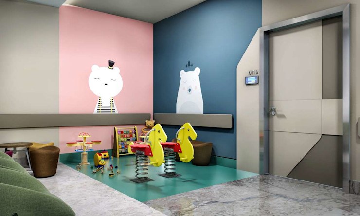 Tınaztepe Galen Hastanesi - Çocuk Polikliniği VERO CONCEPT MİMARLIK Modern Hastaneler
