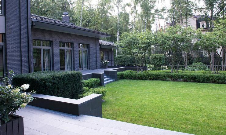 """Пять уровней комфорта КП """"Жуковка"""" ARCADIA GARDEN Landscape Studio Сад в стиле модерн"""