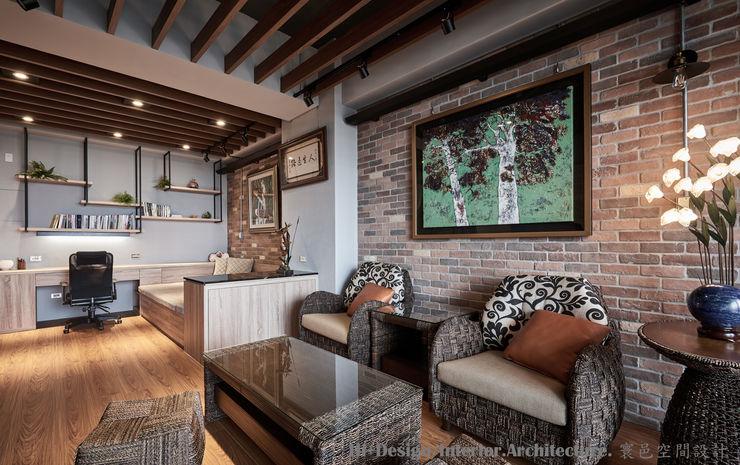 牆面 Hi+Design/Interior.Architecture. 寰邑空間設計 Industrial walls & floors Bricks