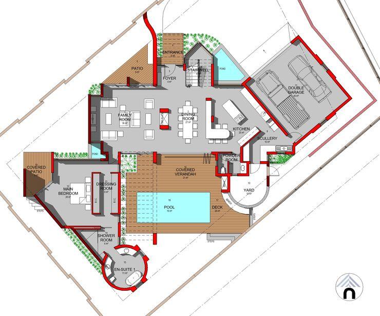 GROUND FLOOR PLAN Nuclei Lifestyle Design Modern houses