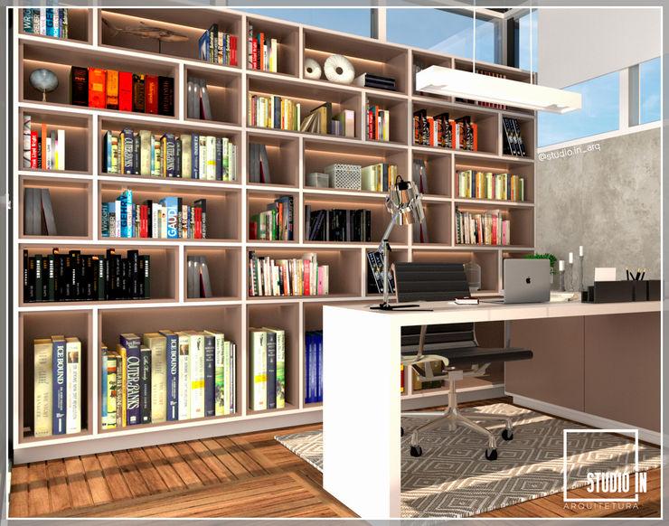 Studio In Arquitetura Ruang Studi/Kantor Modern