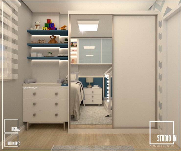 DORMITÓRIO DOS MENINOS Studio In Arquitetura Quarto infantil moderno