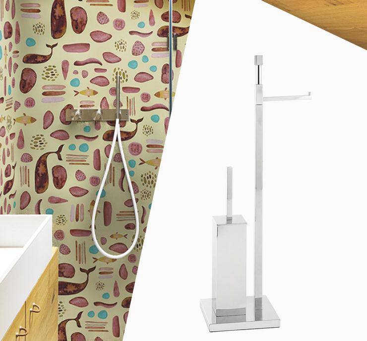 Idearredobagno.it Minimalist style bathroom Copper/Bronze/Brass Metallic/Silver