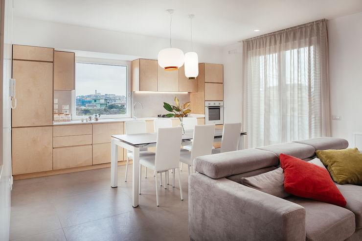 Open Space cucina e living manuarino architettura design comunicazione Cucina attrezzata Legno Effetto legno