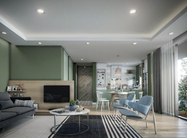 Single Family House - Interior Design Onur Eroğuz Mimarlık Hizmetleri İskandinav Oturma Odası