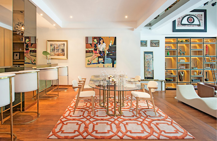 Eclectic Dining Room by Design Intervention Design Intervention Eclectic style dining room
