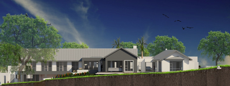 Exterior view – north elevation (after) Nuclei Lifestyle Design Modern houses