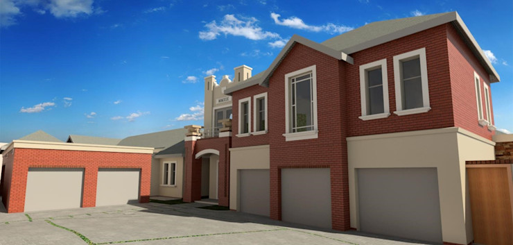 render of the house Nuclei Lifestyle Design Modern houses