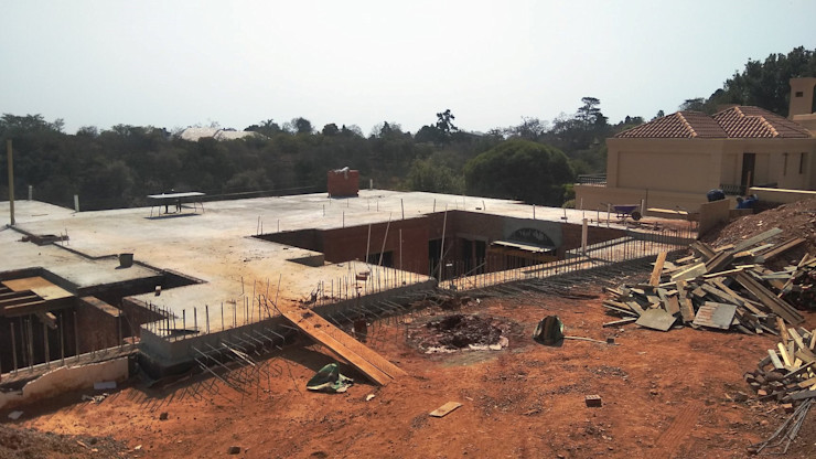 construction of 1 st floor Nuclei Lifestyle Design Modern houses