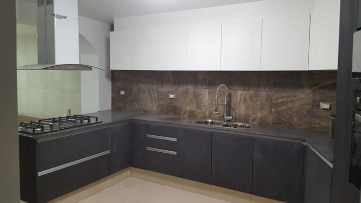 Brenno il mobile Built-in kitchens Wood Grey