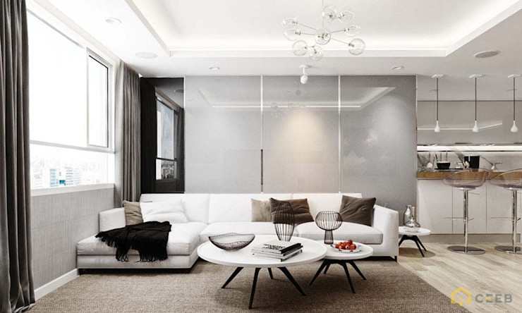 nội thất căn hộ hiện đại CEEB Гостиная в стиле модерн