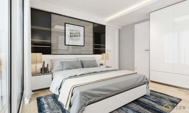 nội thất căn hộ hiện đại CEEB Спальня в стиле модерн