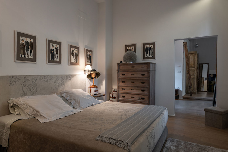 GIAN MARCO CANNAVICCI ARCHITETTO Industrial style bedroom