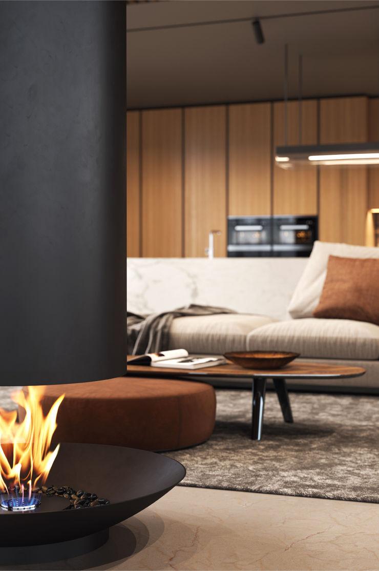 Shelter ® Fireplace Design ВітальняКаміни та аксесуари