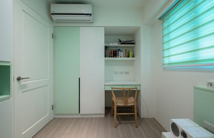 給老建築新生命的改造工程 富亞室內裝修設計工程有限公司 青少年房 MDF Green