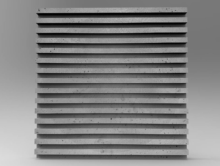 ZICARO - producent paneli 3D Industrial style dining room Ceramic Grey