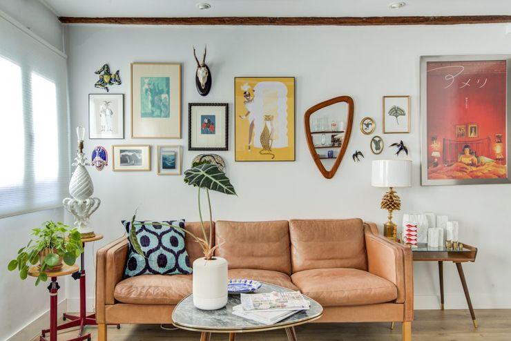 Decorando tu espacio - interiorismo y reforma integral en Madrid. 客廳沙發與扶手椅