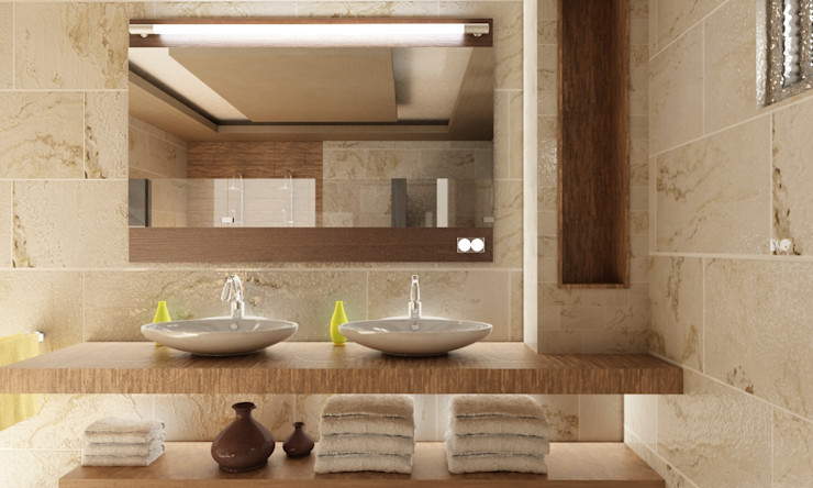 OLLIN ARQUITECTURA Modern Bathroom