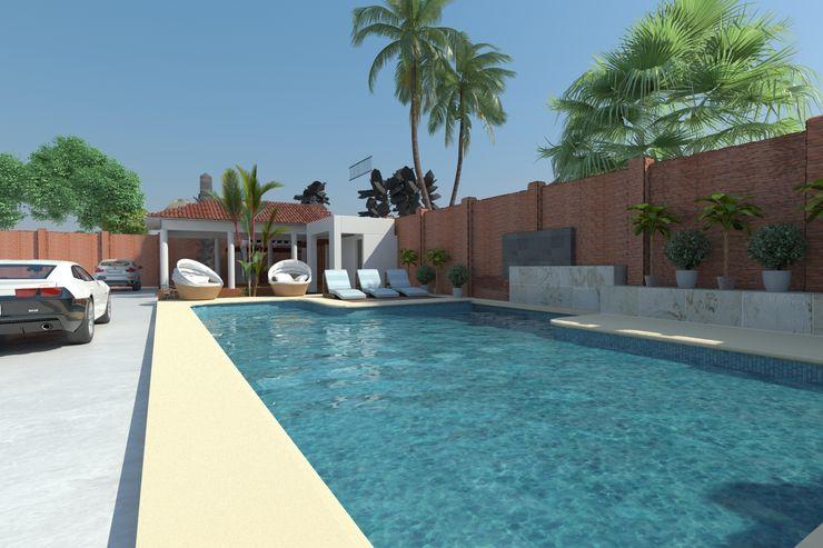 OLLIN ARQUITECTURA Garden Pool
