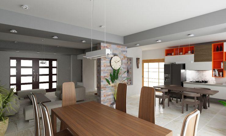 OLLIN ARQUITECTURA Modern Dining Room